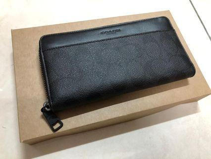 Coach Men Signature Long Wallet