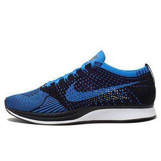 🚚 Nike Flyknit Racer 藍 黑 US12 台灣公司貨