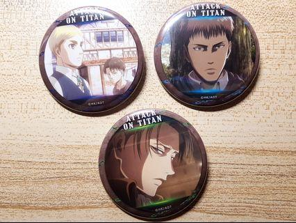 Attack on Titan/ Shingeki no Kyojin  Badge set