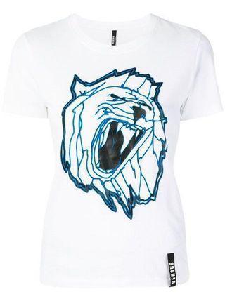 🚚 Versus Lion T-shirt Women 白 Versace 副牌 M 專櫃正品