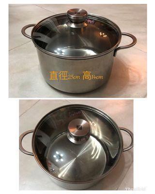 不銹鋼湯煲連蓋