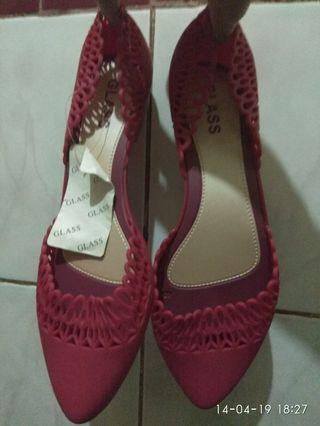 Sepatu jelly merah cantik