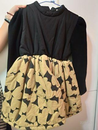 🚚 二手女童鋪棉洋裝 約110cm~120cm