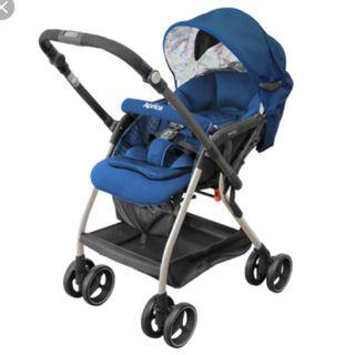 Blue Aprica Optia stroller for sale
