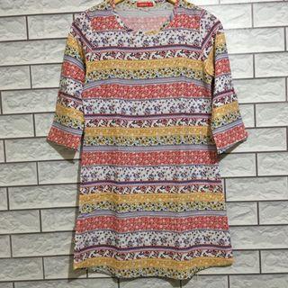 Dress Batik dress tribal semi tunik