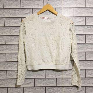 Sweater crop top brukat