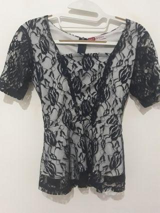 Lace blouse navy #mudikhemat