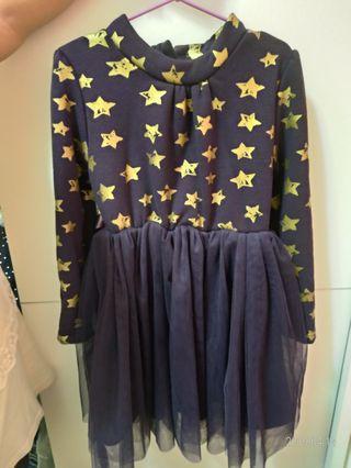 🚚 二手女童厚棉洋裝 約110~120cm