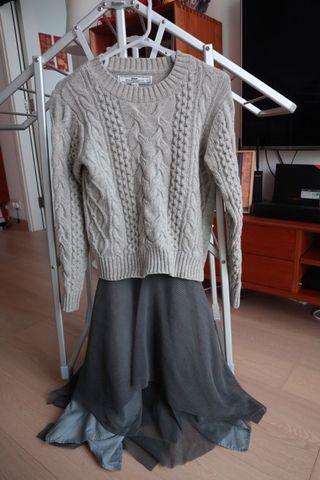 Initial 羊毛兩件套裙 95new