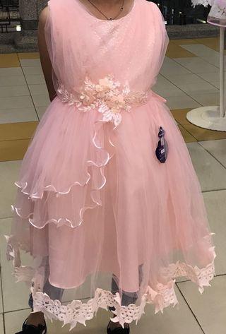 Girls Gown in peach