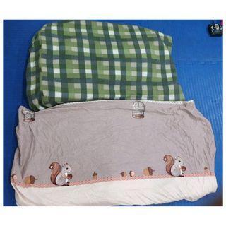 售少用歡樂時光L號充氣床墊專用床包 上圖是法蘭絨適合冬天使用 下圖適合夏天使用 標價為單件價格