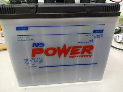 NS60LS- used 2weeks, vehicle battery, water type