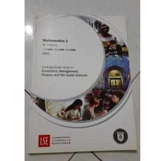 LSE Mathematics 2 study guide