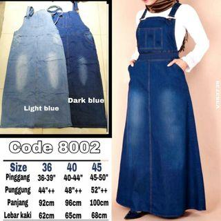 PLUS SIZE STRETCHABLE JEANS PINAFORE - instock limited
