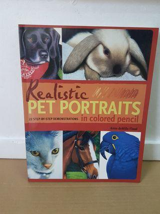 Realistic Pet Portraits in Colored Pencil