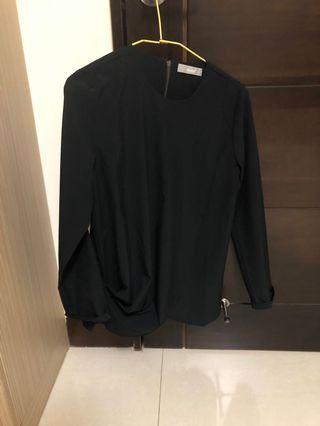 黑色垂墜襯衫