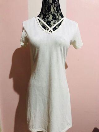 White Basic Dress