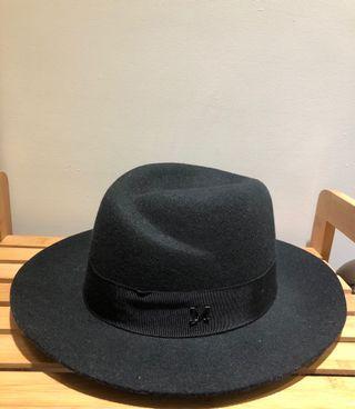 紳士帽 黑色 羊毛料