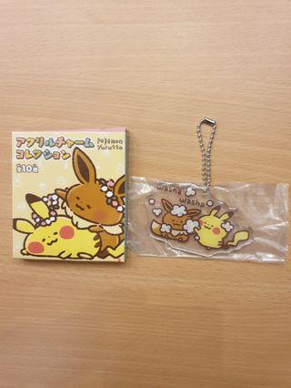 🚚 Pikachu and Eevee Yurutto washa washa keychain from JP pokemon center