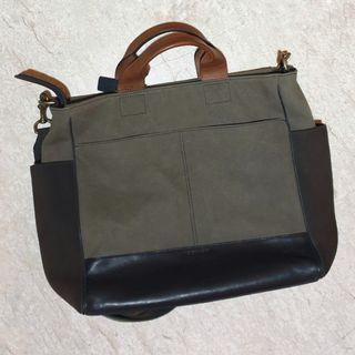 Coach canvas sling bag unisex