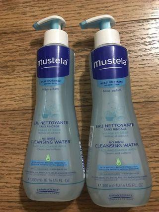 Mustela cleaning water 300ml*2 bottles