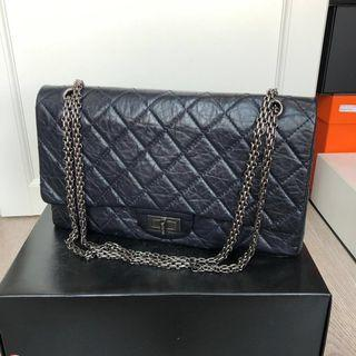 100% authentic preloved Navy Chanel 2.55 Reissue 227