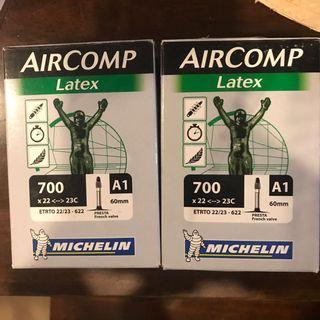 BNIB: Michelin Aircomp Latex Inner tube - 700x22-23C - 60mm - Presta