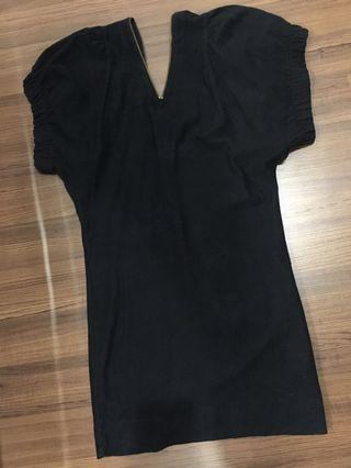 French Connection V neck Zipped Dress