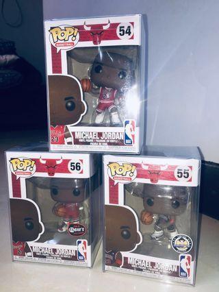 Michael Jordan 3-pc Funko Pop Set