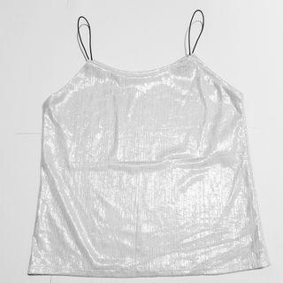 🚚 Glitter top (white)