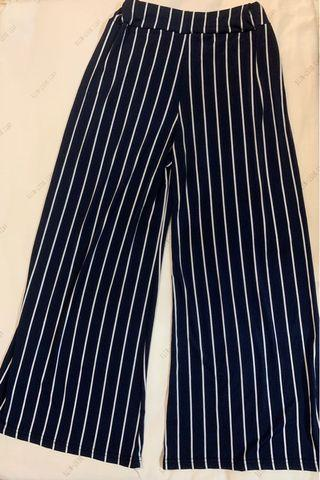 Preloved Navy Striped Pants