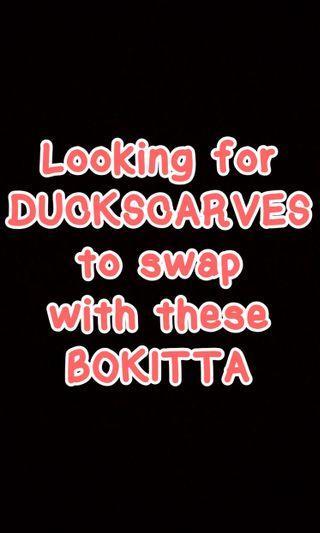 SWAP BOKITTA to DUCKSCARVES