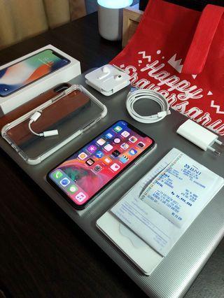 iPhone X silver ibox garansi 2020
