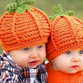 Baby Hat Pumpkin Knitted Hat Photography Prop