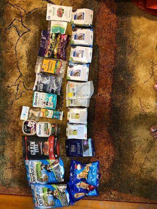 Pet food samples for giveaway!