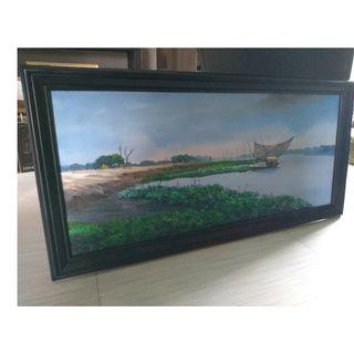 Oil Painting on Canvas - Scenic Landscape (100 x 50 cm)