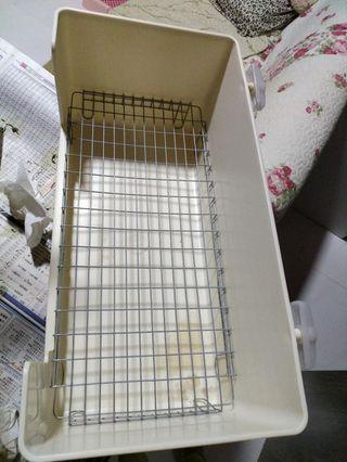 (二手)日本sanko 特大號 小動物 兔 豚鼠 貂 廁所