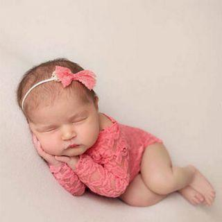 Baby girl sweet lace romper photography prop