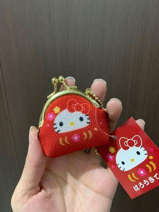 🚚 hello kitty durama mini kiss lock pouch