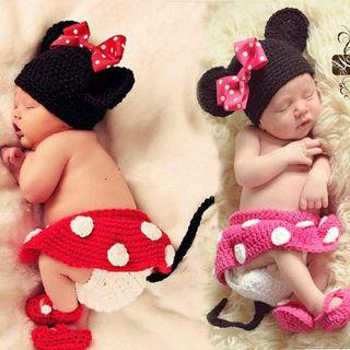 Baby knitted costume Minnie photography prop