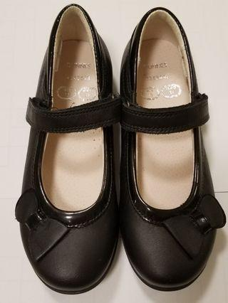 女童 黑色返學皮鞋 13碼