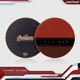 台灣 代購 預購 Marvel 復仇者聯盟 限量 Ironman 鐵甲奇俠 鋼鐵人 快速 無線充電板 皮革面