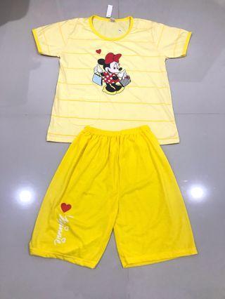 Setelan Baju Tidur Mickey Mouse anak/remaja/orangtua
