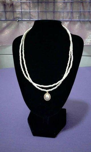 珍珠雙層項鍊(韓國)
