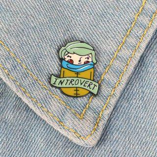 [BUY 3 FREE 1] introverted enamel pin