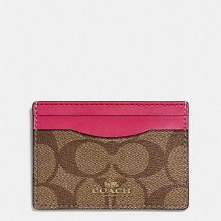 Coach 100% Authentic Flat card holder