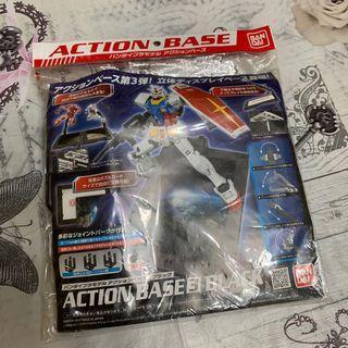 高達模型 地台 支架 三合一 清貨 Gundam Action Base 1 2 3 黑色 透明綠 MG HG 1/100 1/144 元祖高達 00高達