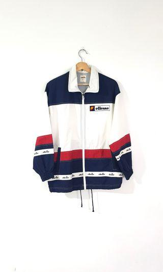 Vintage Ellesse Embroidered Big Logo Windbreaker
