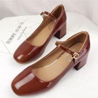 🚚 瑪莉珍粗跟鞋