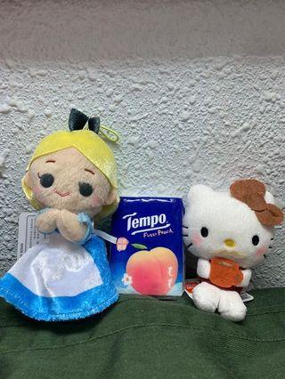 [包郵]Alice in the Wonderland Hello Kitty 公仔鎖匙扣